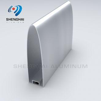 Aluminum Bullet Shaped Profile Baffle Ceiling 150x40