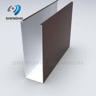 Aluminum square Shape Tube Profile for Baffle Ceiling