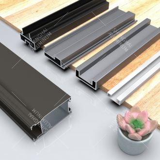 Deep Slim Minimalistic Series Aluminum Profiles for Wardrobe and Cabinet