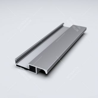 deep slim minimalistic aluminium profile wardrobe