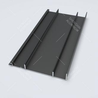 Anodized Black Aluminium Skirting profile