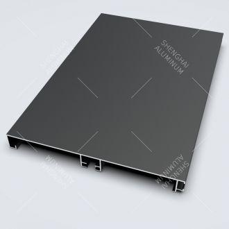 Anodized Black Aluminium Skirting Board Profile