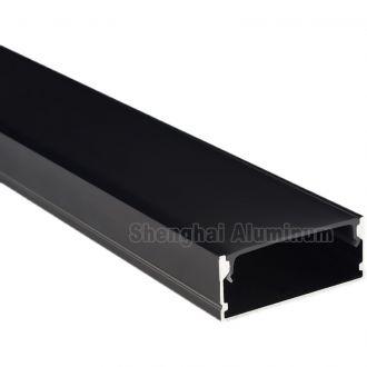 Black Anodized LED Strip Aluminum Channel U Shape