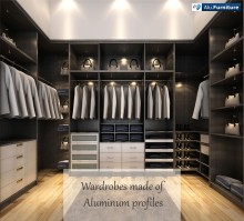 Aluminum Furnitures; Aluminum Profiles to Make Furnitures, Wardrobes, Kitchen Cabinets, Bathroom Cabinets.