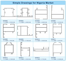 Aluminum Profile Drawings for Nigeria