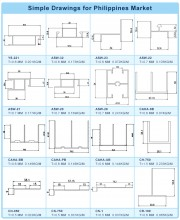 Aluminum Profile Drawings for Philippines